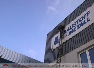 malowanie dachu hali fabrycznej