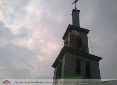 malowanie dachu kościoła