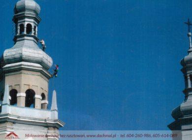 malowanie wieży kościoła
