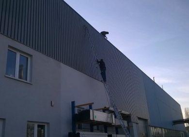 Malowanie dachu i ścian hali fabrycznej Kraków