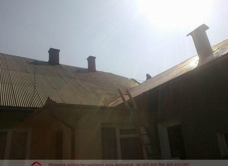 Malowanie dachu Tuchów