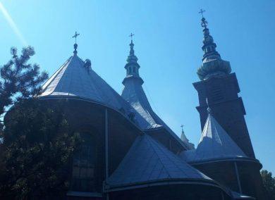 malowanie dachu kościoła Wojkowice