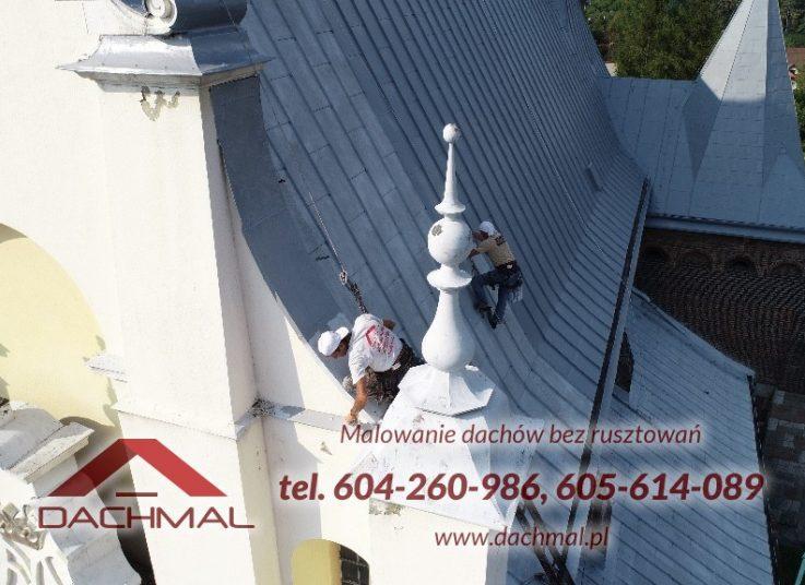 wysokościowe malowanie dachu