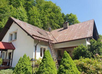 Malowanie dachu Brenna