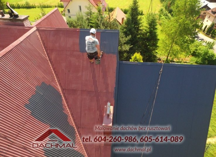 malowanie-dachu-lubien
