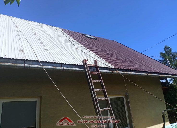 Malowanie dachu Białka