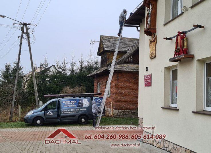 wymiana rynien i blach dachowych