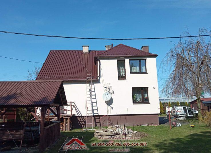 malowanie dachu Harbutowice kolo cieszyna - dachmal 02