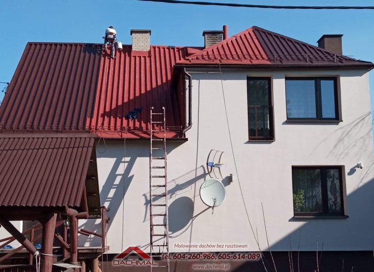malowanie dachu Harbutowice kolo cieszyna - dachmal 03